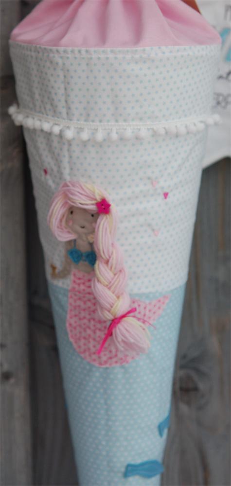 Schultüte Meerjungfrau  -  Material: Baumwolle  -  Preis: 36,- Euro